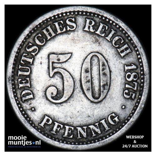 50 pfennig - Germany 1874 A (KM 6) (kant A)