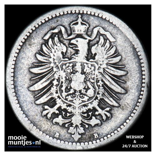 50 pfennig - Germany 1875 B (KM 6) (kant B)