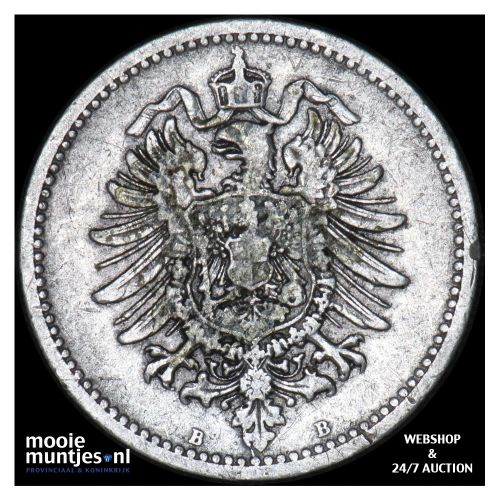 50 pfennig - Germany 1876 B (KM 6) (kant B)