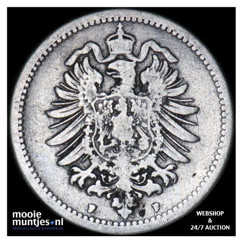 50 pfennig - Germany 1876 F (KM 6) (kant B)