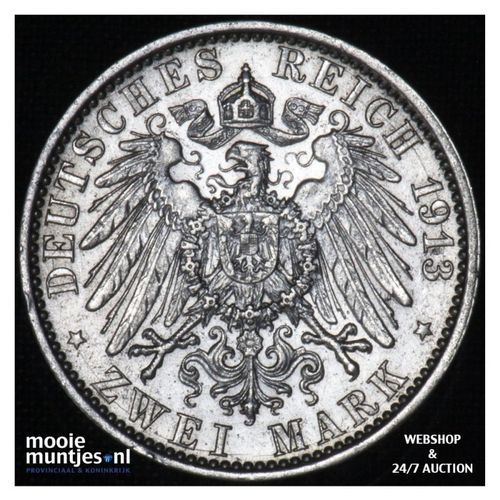 2 mark - German States/Prussia 1913 (KM 533) (kant A)
