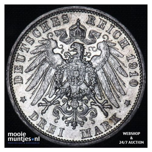 3 mark - German States/Prussia 1910 (KM 527) (kant A)