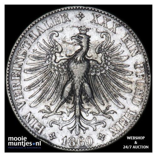 thaler - German States/Frankfurt am Main 1860 (KM 360) (kant A)