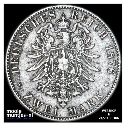 2 mark - (reform coinage) - German States/Prussia 1876 A (KM 506) (kant A)