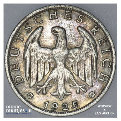 reichsmark - Germany-Weimar Republic 1925 A (KM 44) (kant B)