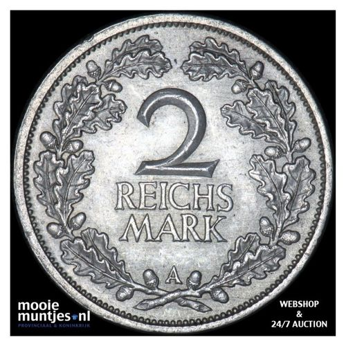 2 reichsmark - Germany-Weimar Republic 1926 A (KM 45) (kant A)