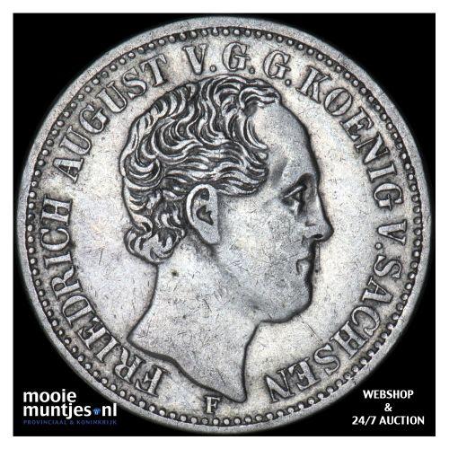 1/3 thaler (1/2 gulden) - German States/Saxony-Albertine 1853 (KM 1177) (kant B)