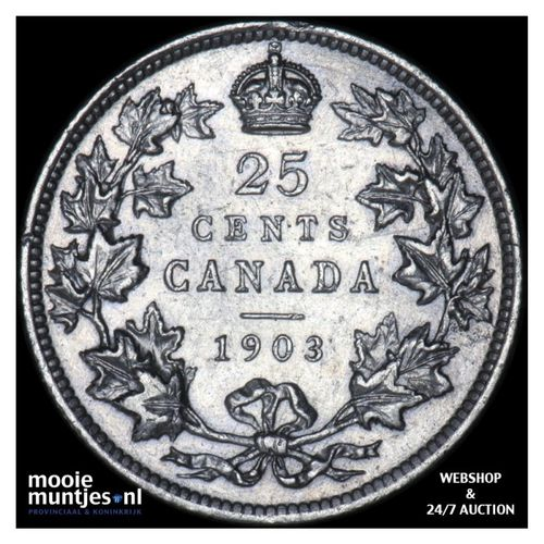 25 cents - Canada 1903 (KM 11) (kant A)