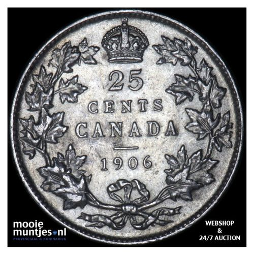 25 cents - Canada 1906 (KM 11) (kant A)