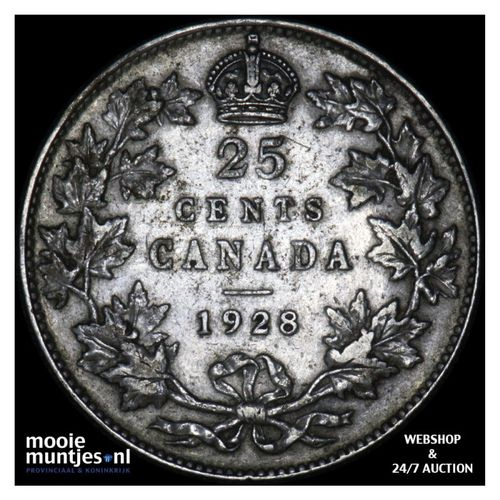 25 cents - Canada 1928 (KM 24a) (kant A)