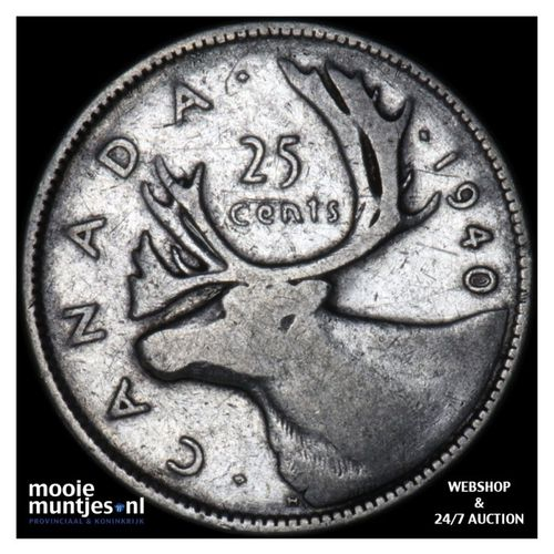 25 cents - Canada 1940 (KM 35) (kant A)