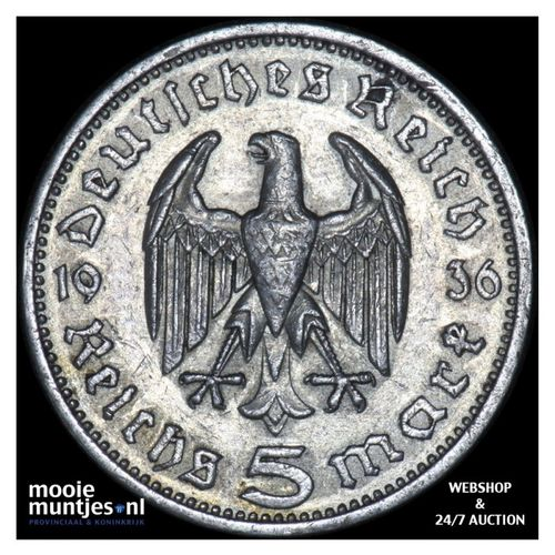 5 reichsmark - Germany-Third Reich 1936 A (KM 86) (kant A)