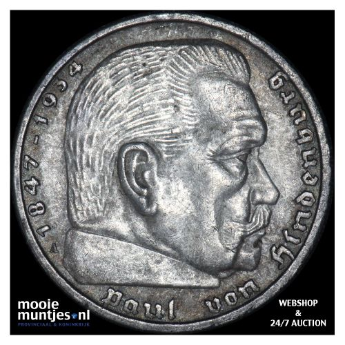 5 reichsmark - Germany-Third Reich 1936 A (KM 94) (kant B)