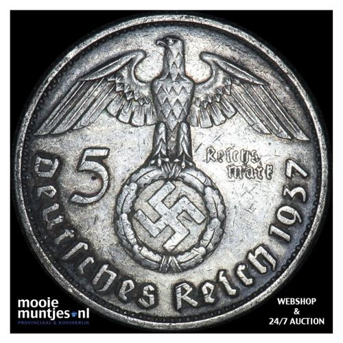 5 reichsmark - Germany-Third Reich 1937 G (KM 94) (kant A)