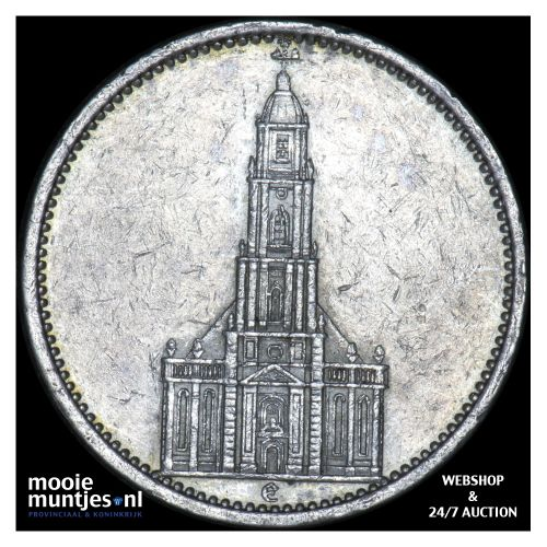 5 reichsmark - Germany-Third Reich 1934 E (KM 83) (kant B)
