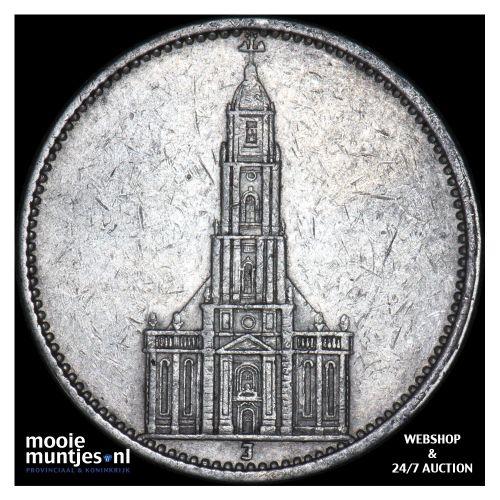 5 reichsmark - Germany-Third Reich 1934 J (KM 83) (kant B)