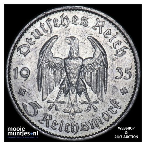 5 reichsmark - Germany-Third Reich 1935 A (KM 83) (kant A)