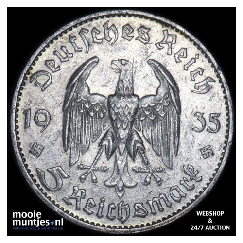 5 reichsmark - Germany-Third Reich 1935 D (KM 83) (kant A)