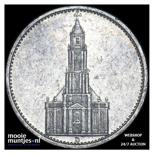 5 reichsmark - Germany-Third Reich 1935 D (KM 83) (kant B)