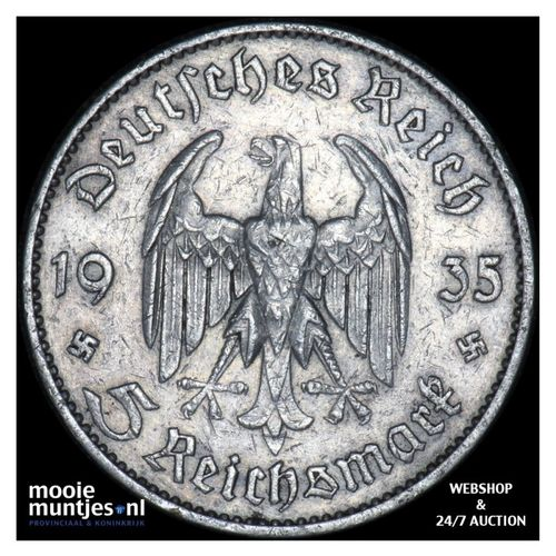 5 reichsmark - Germany-Third Reich 1935 F (KM 83) (kant A)
