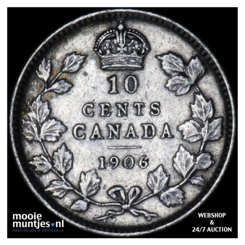 10 cents - Canada 1906 (KM 10) (kant A)