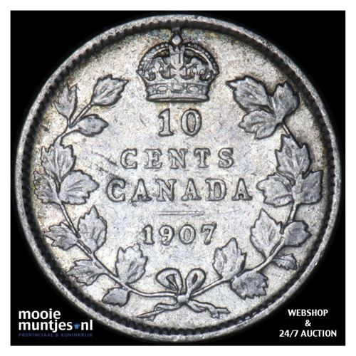 10 cents - Canada 1907 (KM 10) (kant A)