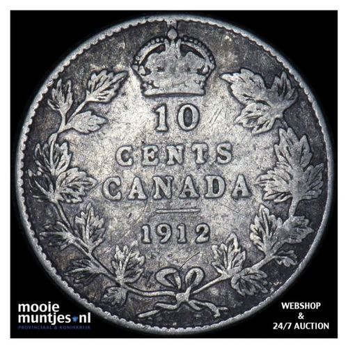 10 cents - Canada 1912 (KM 23) (kant A)