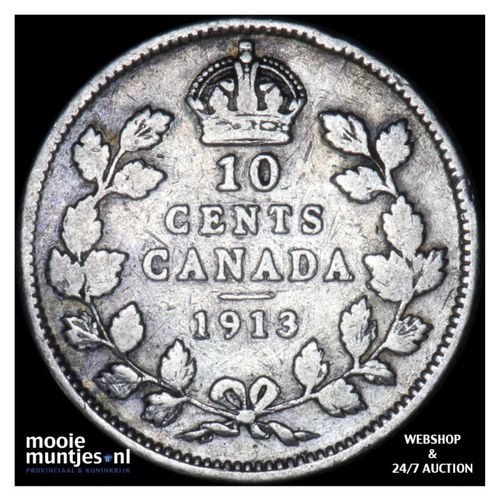 10 cents - Canada 1913 (KM 23) (kant A)