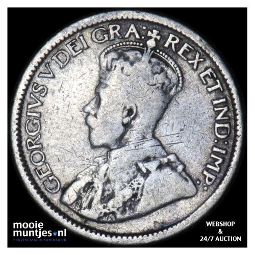 10 cents - Canada 1913 (KM 23) (kant B)