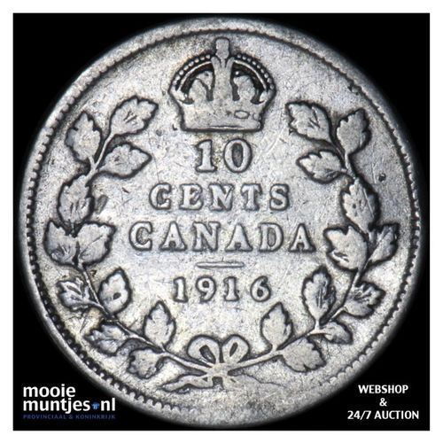 10 cents - Canada 1916 (KM 23) (kant A)