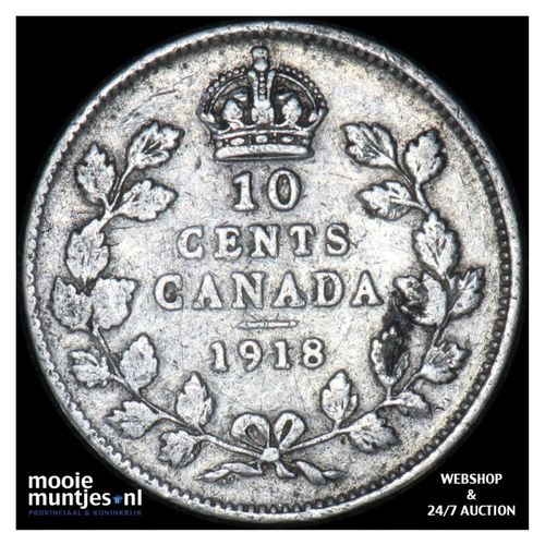 10 cents - Canada 1918 (KM 23) (kant A)