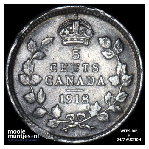 5 cents - Canada 1918 (KM 22) (kant A)