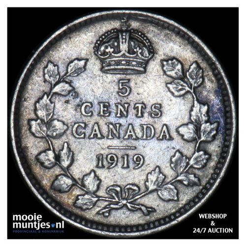 5 cents - Canada 1919 (KM 22) (kant A)