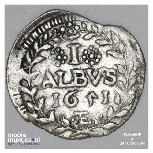 albus (2 kreuzer) - German States/Mainz 1651 (KM 100) (kant A)