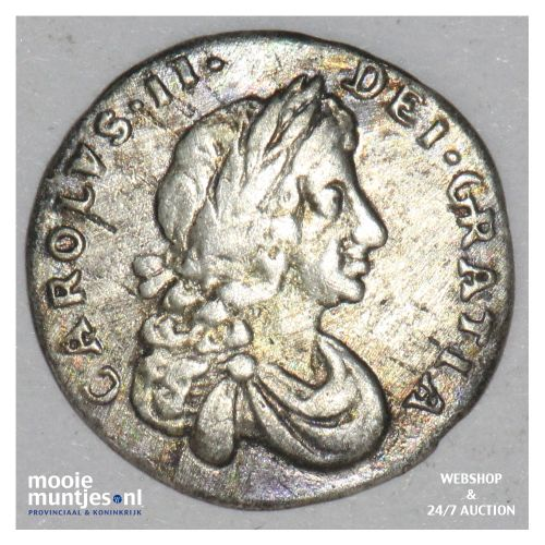 penny - pre-decimal coinage - Great Britain 1680 (KM 432) (kant B)