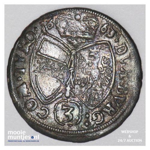 3 kreuzer - Austria 1663 (KM 1209) (kant A)