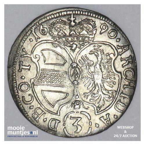 3 kreuzer - Austria 1690 (KM 1346) (kant A)