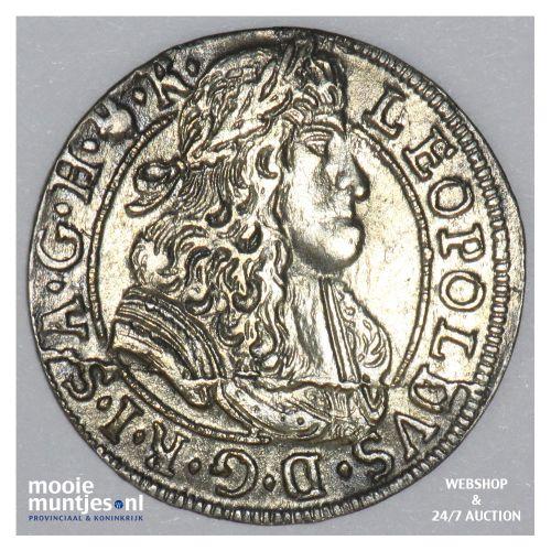 3 kreuzer - Austria 1690 (KM 1346) (kant B)