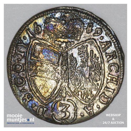 3 kreuzer - Austria 1689 (KM 1245) (kant A)