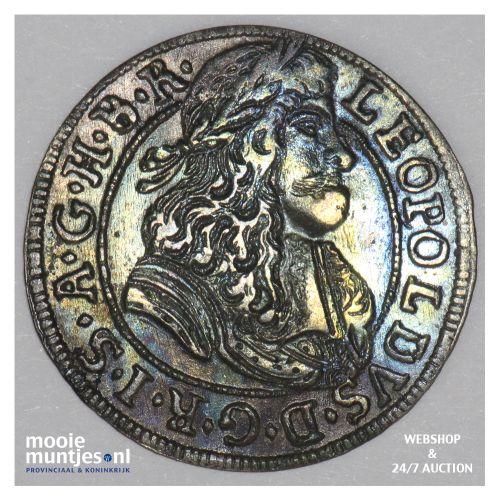 3 kreuzer - Austria 1689 (KM 1245) (kant B)