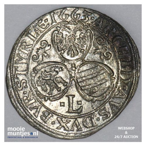 3 kreuzer - Austria 1663 L (KM 1115) (kant A)