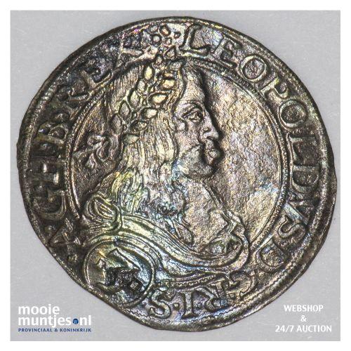 3 kreuzer - Austria 1663 L (KM 1115) (kant B)