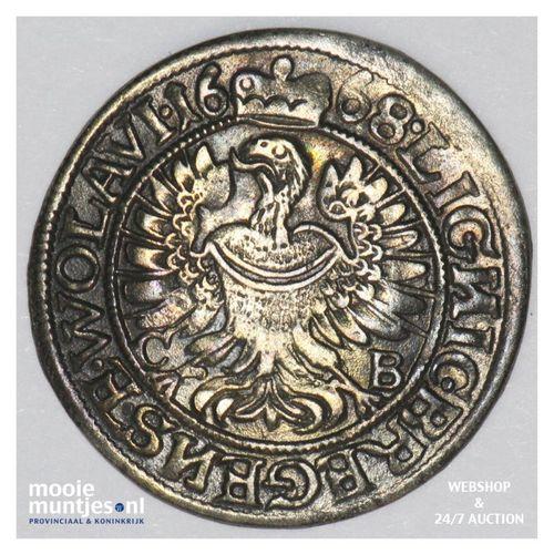 3 kreuzer - German States/Silesia-Liegnitz-Brieg 1668 (KM 500) (kant A)