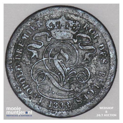 2 centimes - Belgium 1833 (KM 4.1) (kant A)