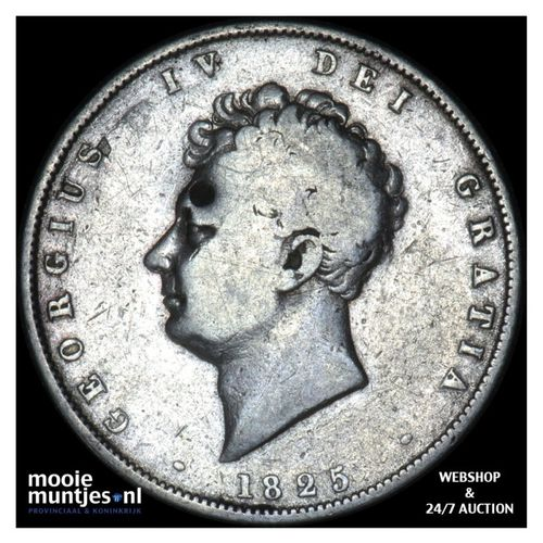 1/2 crown - Great Britain 1825 (KM 695) (kant A)