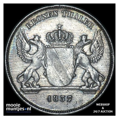 thaler (krone) - German States/Baden 1837 (KM 195.2) (kant A)