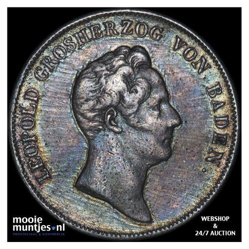 thaler (krone) - German States/Baden 1837 (KM 195.2) (kant B)