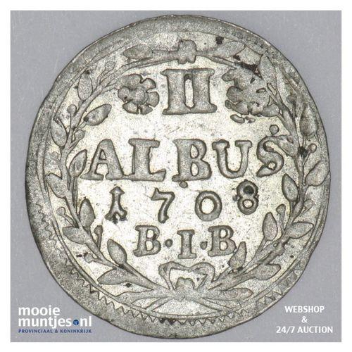 2 albus - German States/Hesse-Darmstadt 1708 (KM 82) (kant A)