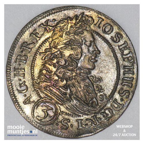 3 kreuzer - German States/Silesia 1706 (KM 687) (kant B)