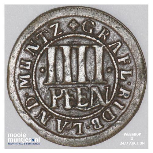 4 pfennig - German States/Rietberg 1703 (KM 99) (kant B)